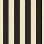 Canopy Stripe Black/Sand Sunbrella® Performance Fabric by the Yard