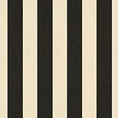 Canopy Stripe Black/Sand Sunbrella® Performance Fabric by the Yard