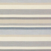 Burton Stripe Gray Sunbrella® Performance Fabric by the Yard