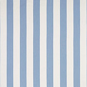 Canopy Stripe Cornflower/White Sunbrella® Performance Fabric by the Yard