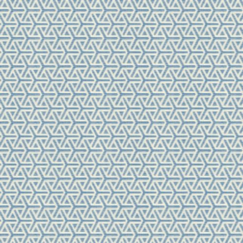 Geo Blue Sunbrella® Performance Fabric by the Yard
