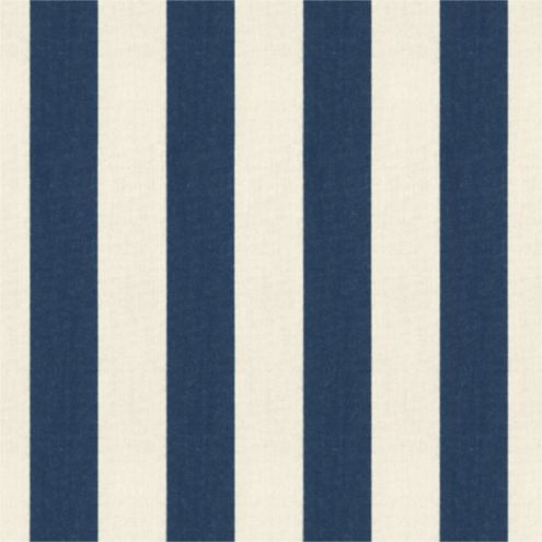 Canopy Stripe Navy/Sand Sunbrella® Fabric by the Yard