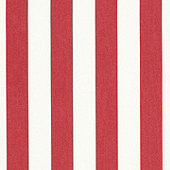 Canopy Stripe Red/White Sunbrella® Fabric by the Yard