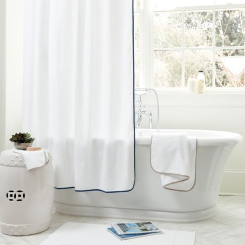 Suzanne Kasler 72 Trimmed Shower Curtain