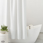 Ballard Signature Diamond Matelasse Shower Curtain