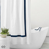 Linen Trim Shower Curtain