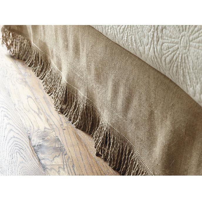 Fringed Burlap Bedskirt Bedding Ballard Designs