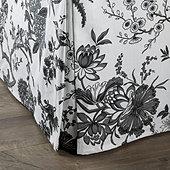 Jardin Toile Bedskirt - Black