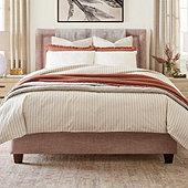 Ticking Stripe Duvet Cover - Navy
