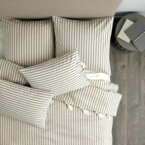 Ticking Stripe Duvet Navy Ballard Designs