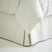 Ticking Stripe Bedskirt - Navy