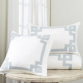 Suzanne Kasler Greek Key Duvet Cover - Blush
