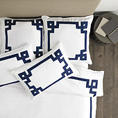 Suzanne Kasler Greek Key Bedding