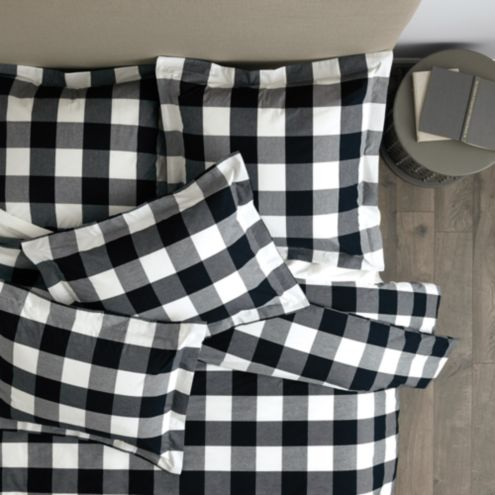 Gwyneth Buffalo Check Duvet Cover - Butter