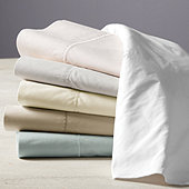 Ballard Classic Egyptian Percale Sheet Set - Stone