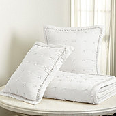 Halle Pickstitch Quilt - White