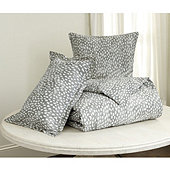 Thandie Watercolor Spotted Duvet Cover - Gray