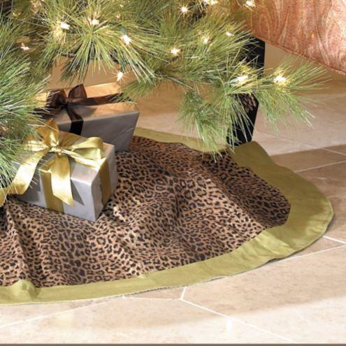 Cheetah Tree Skirt Green