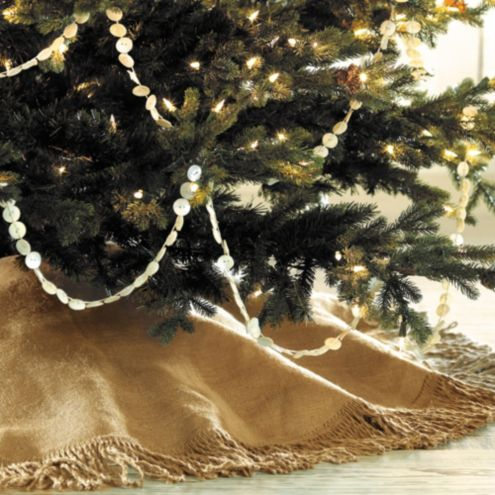 Fringed Burlap Tree Skirt- 72 in.