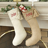 Burlap Tassel Stocking