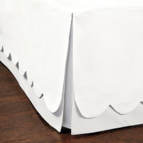 Scalloped Twill Bedskirt