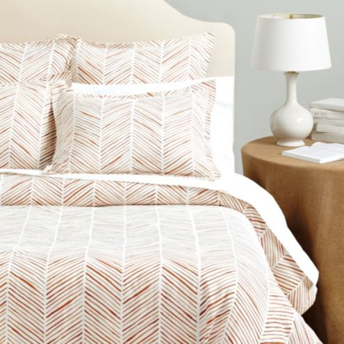Kenzie Painted Herringbone Duvet Cover