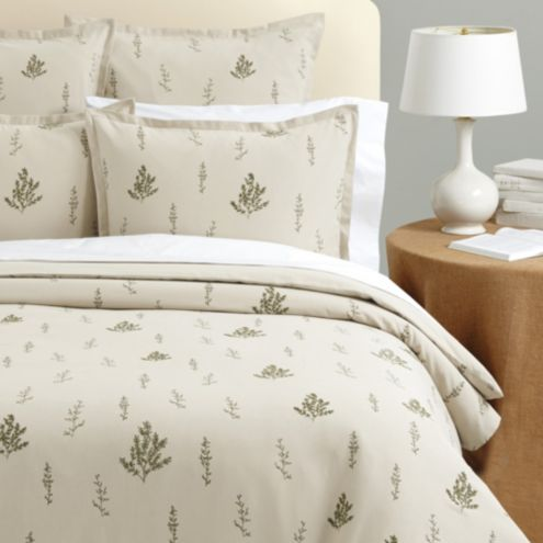 Botanical Embroidered Duvet Cover