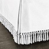 Macrame Fringed Bedskirt