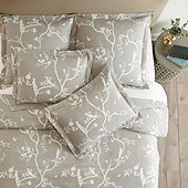 Vera Chinois Floral Duvet Cover - Gray