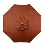 9' Umbrella Replacement Canopy - Canopy Stripe Red/White Sunbrella