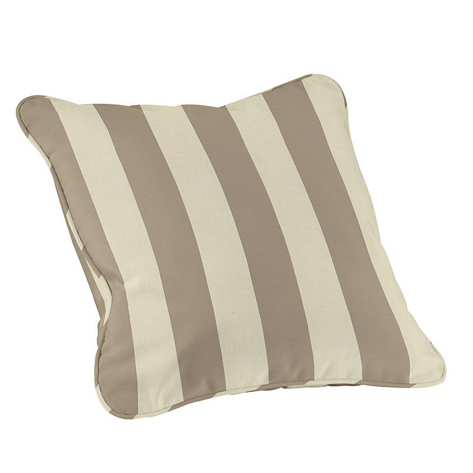 Outdoor Piped Throw Pillow 16 Inch Square