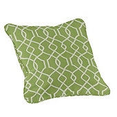 Outdoor Piped Throw Pillow - 20 inch Square