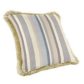 Outdoor Fringed Pillow - Select Colors