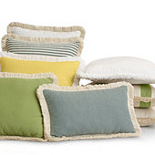 Fringed Outdoor Pillows