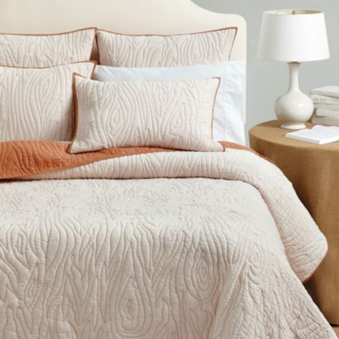 Faux Bois Quilted Bedding