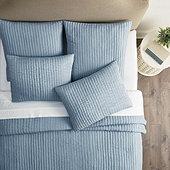 Nelle Channel Stitched Silk Bedding