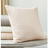 Nelle Channel Stitched Silk Quilted Sham - Select Colors