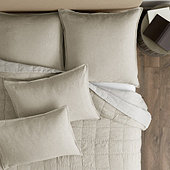 Brooke Washed Linen Quilted Bedding