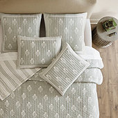 Amaya Block Print Quilted Bedding