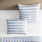 Avery French Striped Quilted Sham