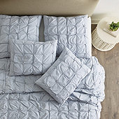 Leona Pom Tuft Quilted Bedding