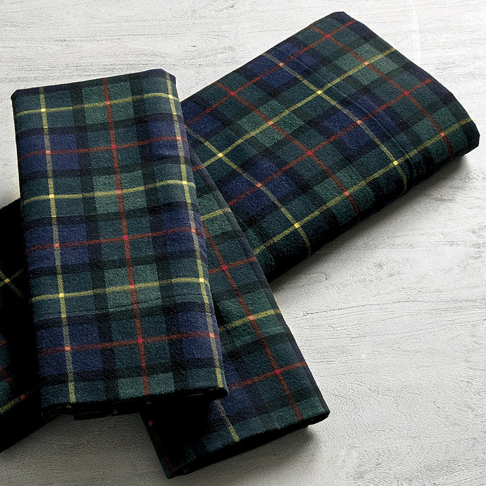Suzanne Kasler Plaid Flannel Sheet Set | Ballard Designs | Ballard ...