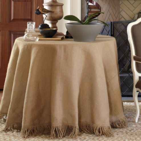 72 inch Fringed Tablecloth