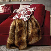 Lush Faux Fur Throw - Sable