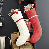 Audree Pom Pom Stocking