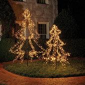 LED Twinkle Metal Staked Tree