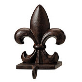 Fleur de Lis Stocking Holder - Rust