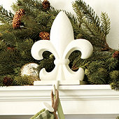 Fleur de Lis Stocking Holder