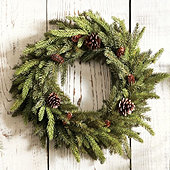 Angel Pine Wreath 20 Inch