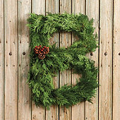 Fresh Cedar Alphabet Wreath